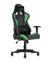 Кресло геймерское Hexter Ml R1D механизм Tilt крестовина PL70, экокожа Eco/01 black green (Новый Стиль ТМ)