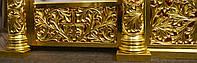 Позолота сусальным золотом резных панно и колонн  иконостаса., фото 2