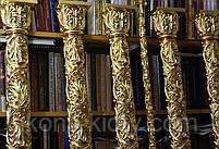 Позолота сусальным золотом резных панно и колонн  иконостаса., фото 7