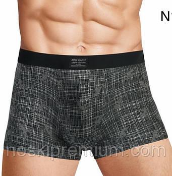Трусы мужские боксеры EMS хлопок с бамбуком, размеры L-3XL, N113