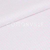 ✁ Отрезы бязи Горошки 3 мм розовые на белом, фото 1