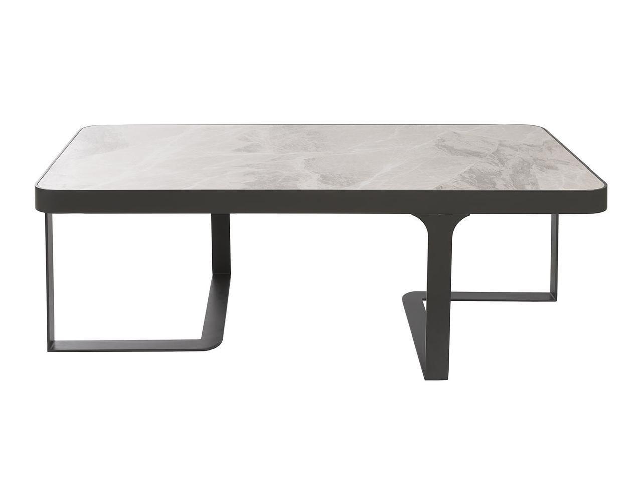 Журнальный столик Nicolas SHEFFIELD 121х61х41 см керамика светло-серый глянец