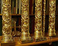Позолота сусальным золотом резных панно и колонн  иконостаса., фото 8