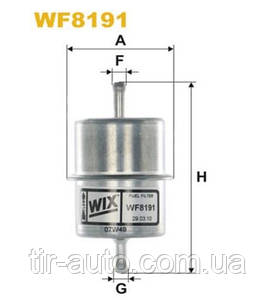 Фильтр топливный Mercedes 190 (w124, W201), 200 (w124) ( WIX ) WF8191