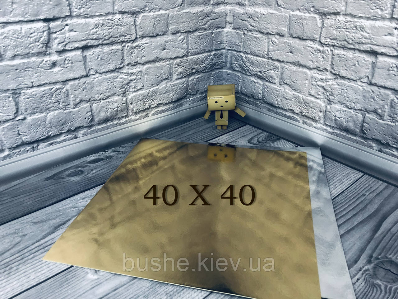*10 шт* / Подложка для торта 40х40см, Золото-серебро, 400х400мм/мин. 10 шт.