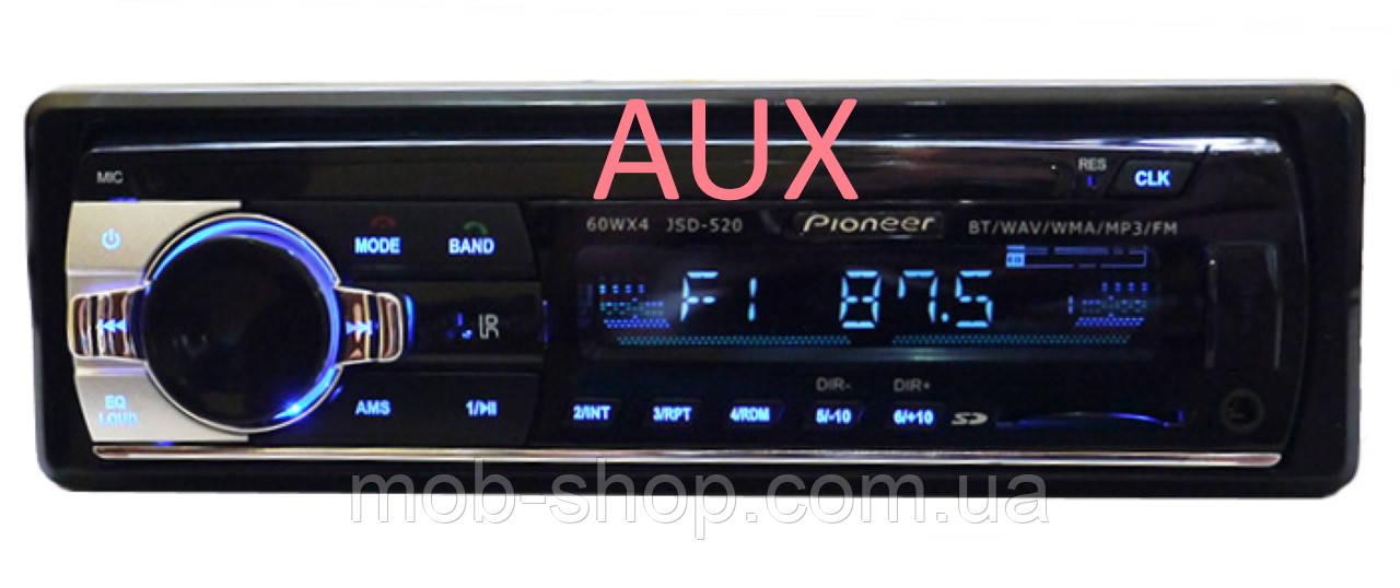 Автомагнитола пионер Pioneer JSD-520 Bluetooth USB AUX