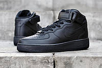 Скидка 35% Кроссовки черные Nike Air Force High Black! Топ 2019! мода и стиль!