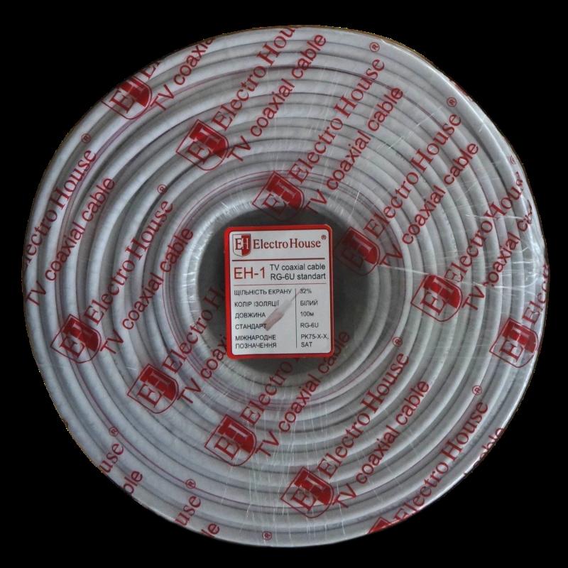 Телевизионный (коаксиальный) кабель RG-6U EH-1 ElectroHouse