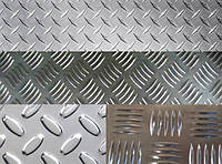 Бурштын рифленый алюминиевый лист 1 2 3 4 15 мм АД0 АД31 (квинтет, диамант) опт розница