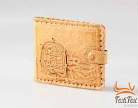 Кожаный брендовый кошелек ручной работы