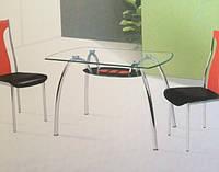 Стол стеклянный С-32 (обеденный , кухонный)