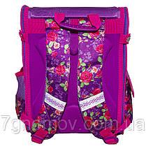 Ранец школьный ортопедический каркасный на 6-8 лет фиолетовый для девочек VGR Цветы, фото 2