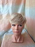 Полупарик, накладка на макушку на зажимах платиновый блонд 05-07 - 15ВТ613, фото 4