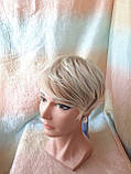 Полупарик, накладка на макушку на зажимах платиновый блонд 05-07 - 15ВТ613, фото 5