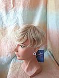 Полупарик, накладка на макушку на зажимах платиновый блонд 05-07 - 15ВТ613, фото 2