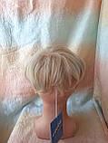 Полупарик, накладка на макушку на зажимах платиновый блонд 05-07 - 15ВТ613, фото 3