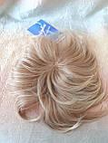 Полупарик, накладка на макушку на зажимах платиновый блонд 05-07 - 15ВТ613, фото 8