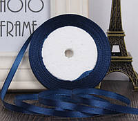 Лента атласная 1.4см  синяя
