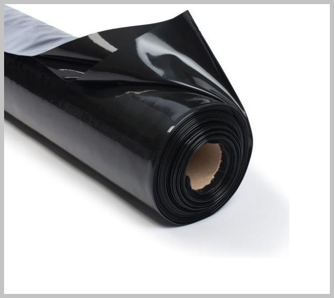 Пленка черная 20 мкм 3*100 м для мульчирования и строительства