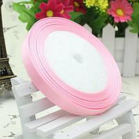 Лента атласная 1.4см  розовая