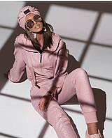 Трикотажный спортивный костюм с люрексом с манжетами на штанах и свободной мастеркой 7105678