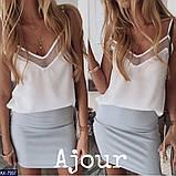 """Блуза жіноча на тонких бретельках """"Наомі"""", фото 3"""