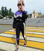 Женский плащевый спорт костюм с неоновыми вставками 7105684, фото 1