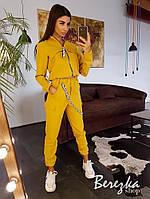 Женский брючный костюм с джоггерами и бомбером на молнии 66101407Е, фото 1