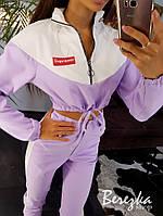 Женский костюм с укороченным бомбером и брюками джоггерами 66101408Е, фото 1