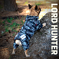 Непромокаемая одежда для собак без подкладки. Lord Hunter,  для  французских бульдогов, мопсов. океан