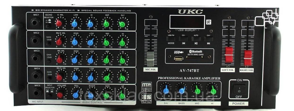 Усилитель мощности звука AMP AV-747 Bluetooth