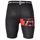 Компрессионные шорты TATAMI Red Bar Black VT Shorts, фото 3