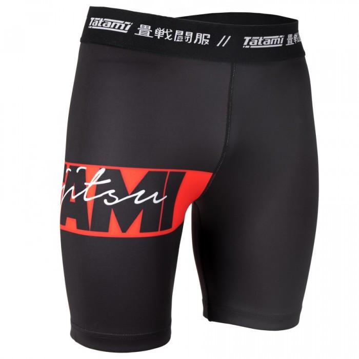 Компресійні шорти TATAMI Red Bar Black VT Shorts