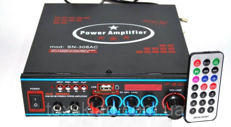 Стерео усилитель-микшер AMP UKC SN-308AC