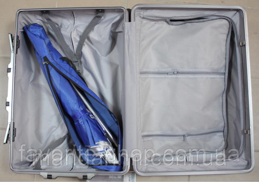 Пляжний зонт компактний, складаний, 160см, блакитний і зелений колір - фото 4