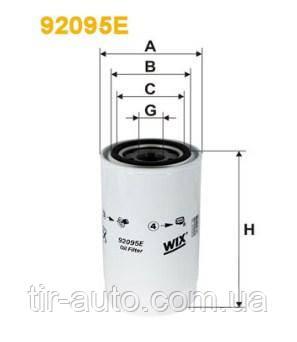 Фильтр масляный DAF,IVECO,GINAF (WIX FILTERS 92095E)