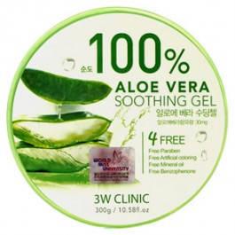 Гель Aloe Vera 100% 3W Clinic, 300мл