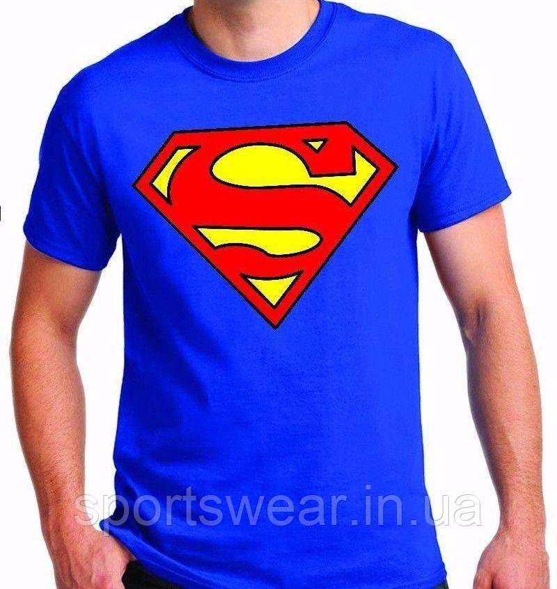 Мужская синяя Футболка SUPERMAN Супермен