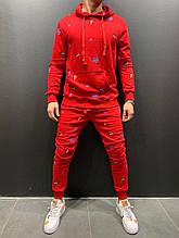Мужской спортивный костюм (красный) - Турция