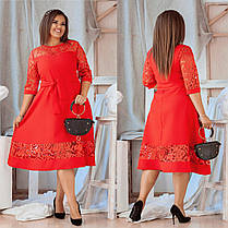 Платье  гипюр вышивка  БАТАЛ в расцветках 712656, фото 2