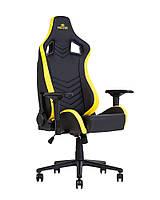 Кресло геймерское Hexter PRO R4D механизм Tilt крестовина МВ70, экокожа Eco/01 black/yellow (Новый Стиль ТМ)