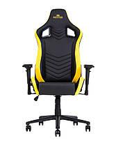 Кресло геймерское Hexter PRO R4D механизм Tilt крестовина МВ70, экокожа Eco/01 black/yellow (Новый Стиль ТМ), фото 2