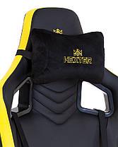 Крісло геймерське Hexter PRO R4D механізм Tilt хрестовина МВ70, екошкіра Eco / 01 black / yellow (Новий Стиль, фото 3