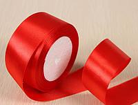 Лента атласная 2.5см  красная