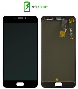 Дисплей (LCD) Meizu M3e (A680H) с сенсором чёрный