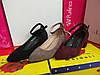 Туфли на маленьком каблучке замшевые бордовый черный бежевый Код 2260, фото 3