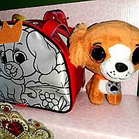 Сумка раскраска с питомцем (акриловые краски) Собачка