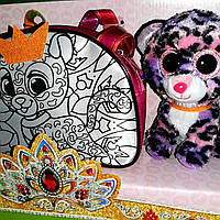 Сумка раскраска с питомцем (акриловые краски) Леопард