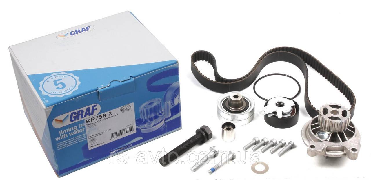 Комплект ГРМ + помпа VW Crafter 2.5TDI 06- (141х26) (помпа PA758)