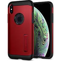 Чехол Spigen для iPhone XS/X Slim Armor, Merlot Red (063CS25138), фото 1